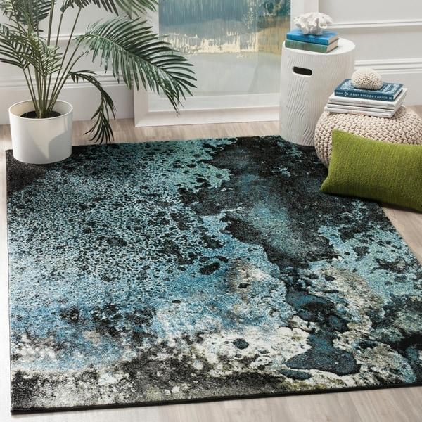 Safavieh Glacier Abstract Watercolor Blue/ Multi Area Rug - 8' x 10'