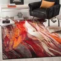 Safavieh Glacier Contemporary Abstract Red/ Multi Area Rug - 8' x 10'