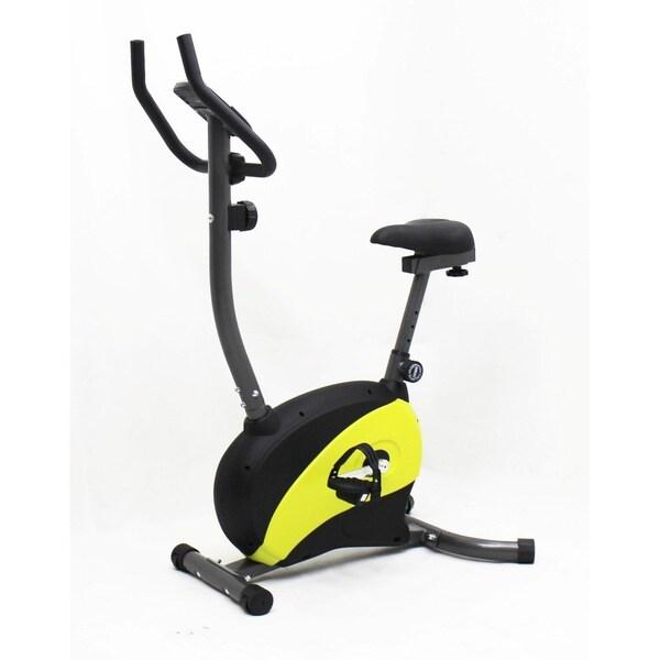 iLIVING Magnetic Upright Bike with Adjustable Seat (Yellow)