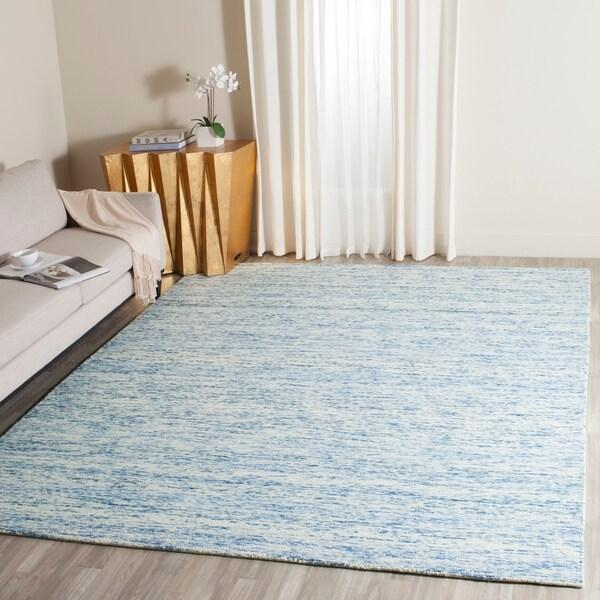 Safavieh Handmade Himalaya Blue Wool Tibetan Area Rug - 8' x 10'