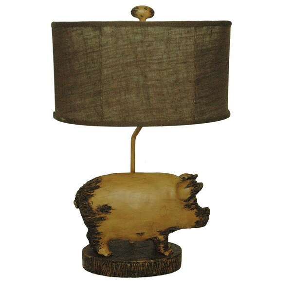 Lottie Distressed Pig 26-inch Table Lamp