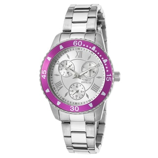 Invicta Women's Angel Stainless Steel Magenta Watch