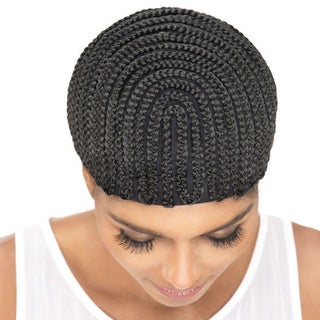 Vivica Fox Amore Mio Cornrow Pro Horseshoe Small Cap with Comb