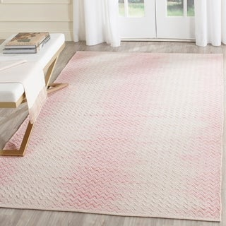 Safavieh Hand-Woven Cotton Kilim Light Pink/ Ivory Cotton Rug (8' x 10')