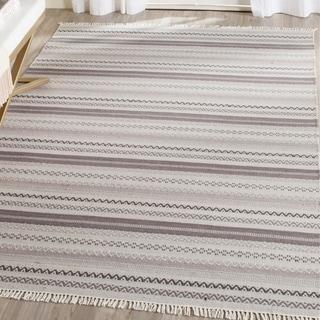 Safavieh Hand-Woven Kilim Grey Wool Rug (8' x 10')