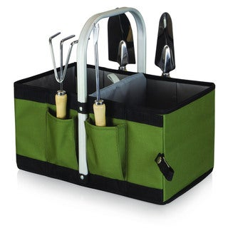 Picnic Time Garden Caddy Collapsible Basket with Tools