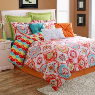Ava 4-piece Comforter Set with Bedskirt by Fiesta
