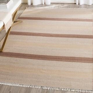Safavieh Hand-Woven Kilim Beige Wool Rug (8' x 10')