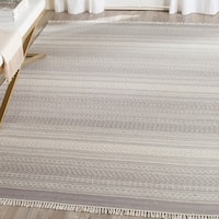 Safavieh Hand-Woven Kilim Grey Wool Rug - 8' x 10'