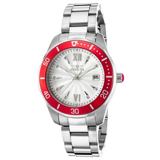 Invicta Women's Pro Diver Stainless Steel Silver-Tone Dial Watch