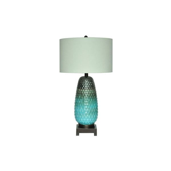 Tuscan Pottery Mushroom Green 34-inch Table Lamp