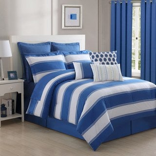 Cabana Stripe 4-piece Comforter Set by Fiesta