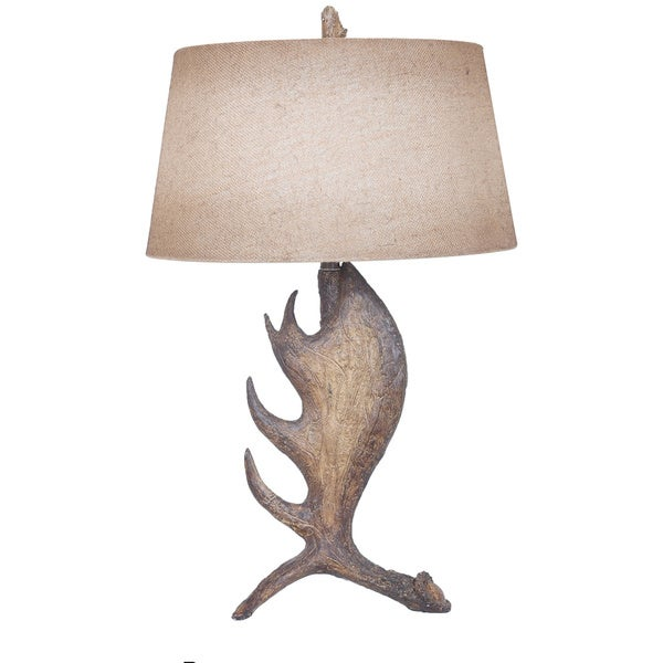 Moose Shed Moose Brown 30-inch Table Lamp