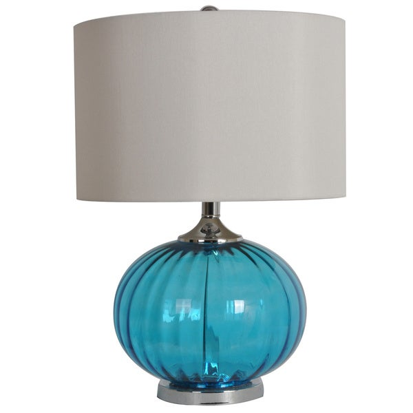 New Port Sea Blue 22-inch Table Lamp