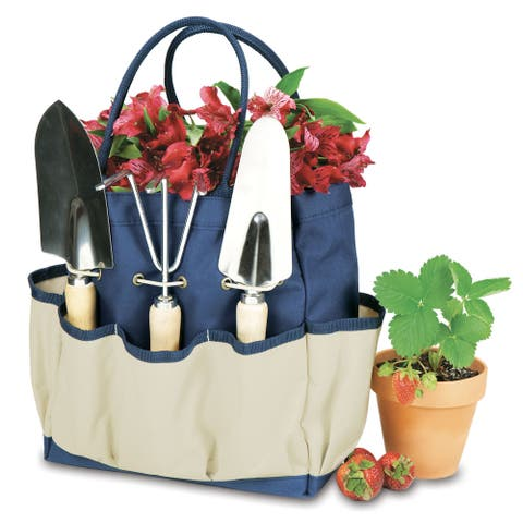 Picnic Time Large Garden Tote - Navy