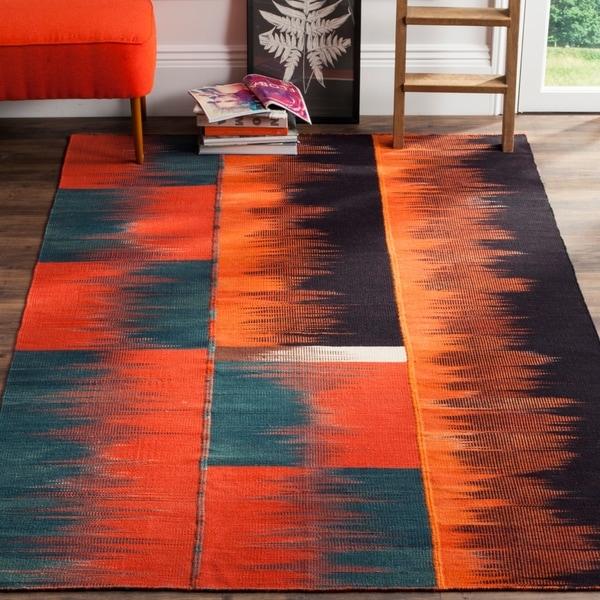 Safavieh Hand-Woven Kilim Multi Wool Rug - 8' x 10'