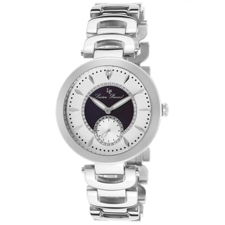 Lucien Piccard Casablanca Stainless Steel Black Mother of Pearl and Light Silver-Tone Dial Watch