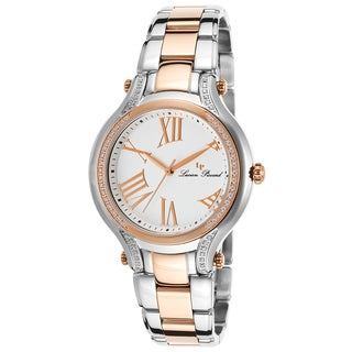 Lucien Piccard Women's Elisia Two-Tone Stainless Steel and Rose Goldtone Watch with Roman Numerals and Crystal Accents