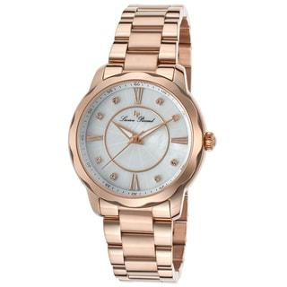 Lucien Piccard Balarina Rose-Tone Stainless Steel White Mother of Pearl Dial Watch