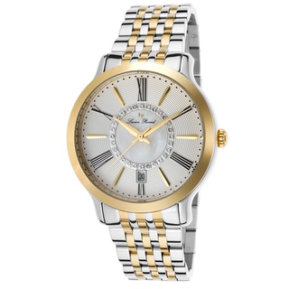 Lucien Piccard Women's Sofia Two-Tone Watch with Mother-of-Pearl and Rippled Dial