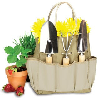 Picnic Time Large Garden Tote - Beige