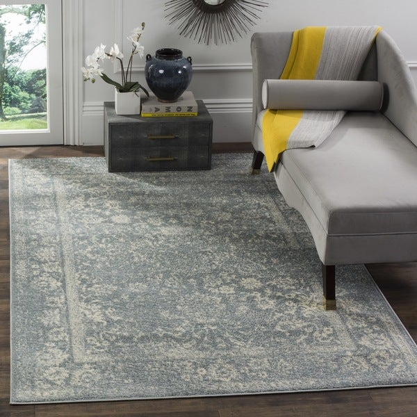 Safavieh Adirondack Vintage Distressed Slate Grey/ Ivory Large Area Rug (9' x 12')