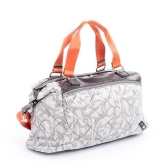 Joanel Quilted Nylon Satchel Handbag