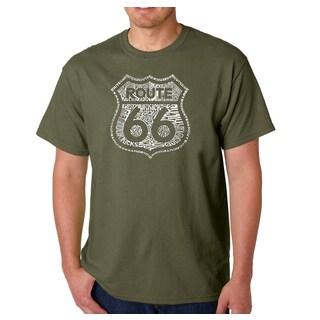 Men's Los Angeles Pop Art Kicks on Route 66 T-Shirt