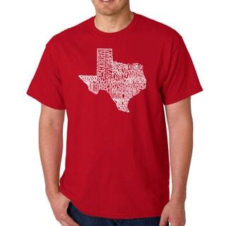 Men's Los Angeles Pop Art Texas State T-Shirt