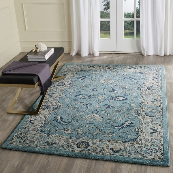 Safavieh Vintage Turquoise And Multi Colored Area Rug: Safavieh Carmel Vintage Turquoise/ Beige Distressed Rug