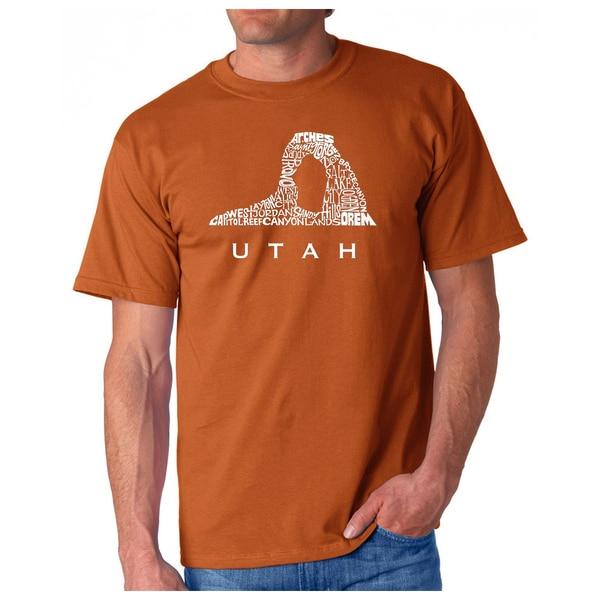 Mens Los Angeles Pop Art Utah T-Shirt