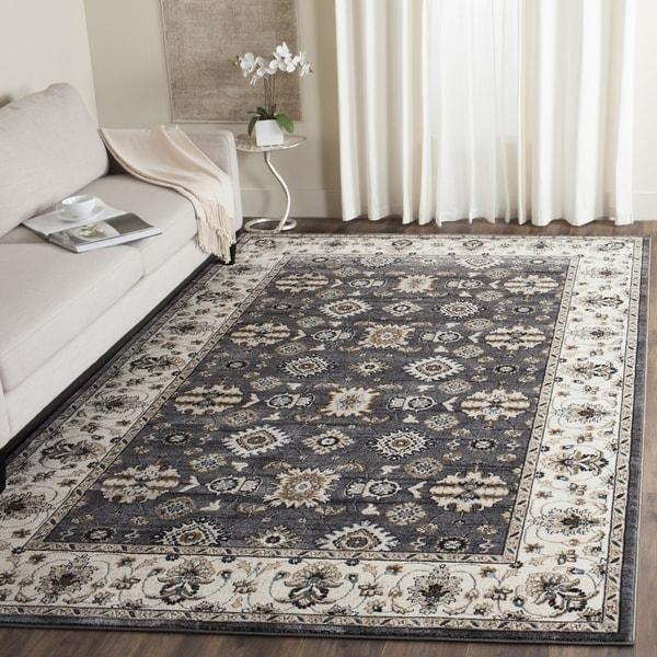 Safavieh Lyndhurst Traditional Oriental Grey/ Cream Rug (8' 11 x 12')