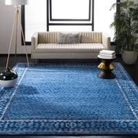 Safavieh Adirondack Vintage Light Blue/ Dark Blue Large Area Rug (10' x 14') - 10' x 14'