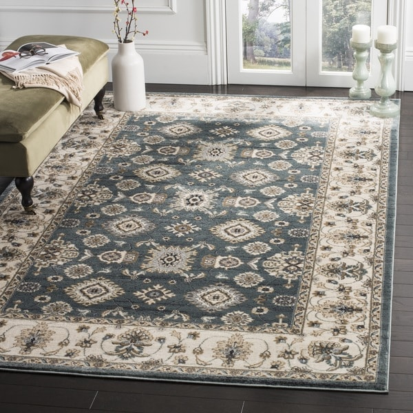 Safavieh Lyndhurst Traditional Oriental Teal/ Cream Rug (8