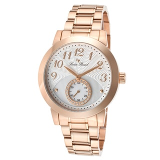 Lucien Piccard Garda Rose-Tone Stainless Steel Silver-Tone and Mother of Pearl Watch