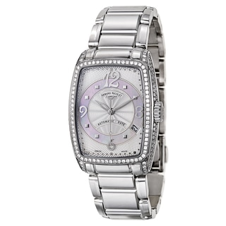Armand Nicolet Women's Stainless Steel Crystal Accented Automatic Watch