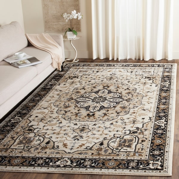 Safavieh Lyndhurst Traditional Oriental Cream/ Navy Rug - 8' x 10'