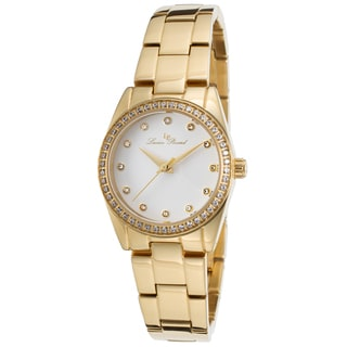 Lucien Piccard Women's LaBelle Gold-Tone Stainless Steel White Dial Watch