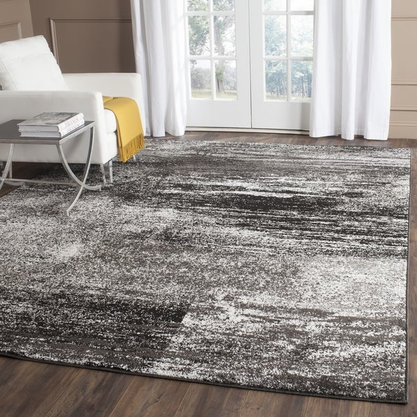 Safavieh Adirondack Modern Abstract Silver/ Black Large Area Rug - 10' x 14'