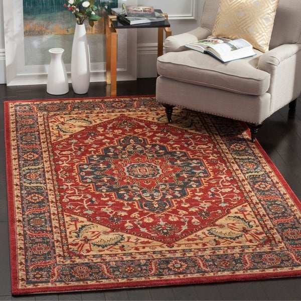 Safavieh Mahal Traditional Grandeur Navy/ Red Rug - 10' x 14'