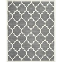 Safavieh Handmade Chatham Dark Grey/ Ivory Wool Rug - 7'6 x 9'6