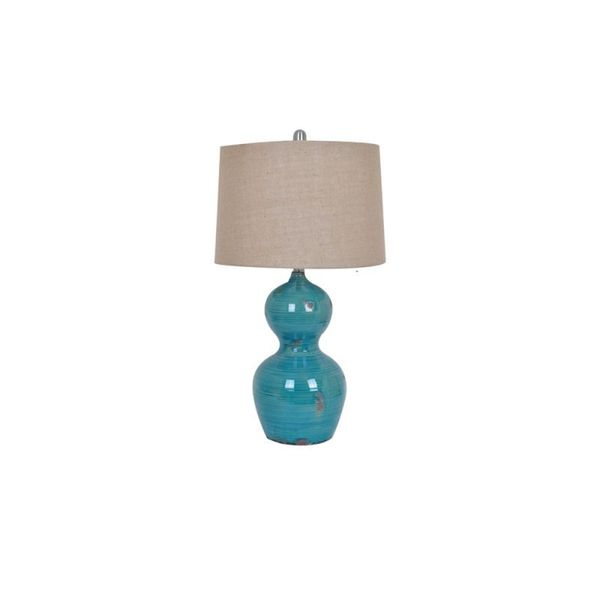Crestview Collection 27.5-inch Turquoise Table Lamp