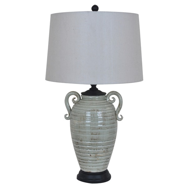 Santa Cruz Grey 32-inch Table Lamp - N/A