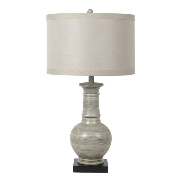 Darby Grey Washed Wood 28-inch Table Lamp