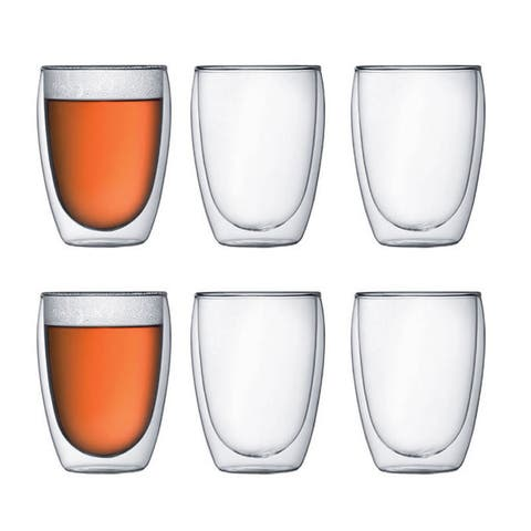 Bodum PAVINA 6 pcs glass, double wall, medium, 0.35 l, 12 oz, Clear