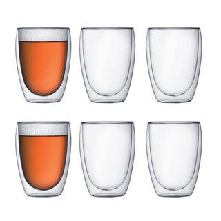 Bodum PAVINA 6 pcs glass, double wall, medium, 0.35 l, 12 oz, Clear