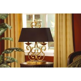 Crestview Collection 57.5-inch Brushed Steel Floor Lamp