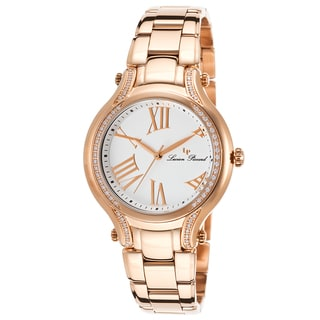 Lucien Piccard Women's Elisia Rose Goldtone Watch with Crystal Accents