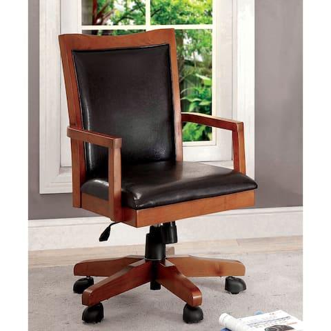 Furniture of America Larma Leatherette Swivel Office Chair