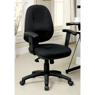 Furniture of America Camms Black Adjustable Task Chair